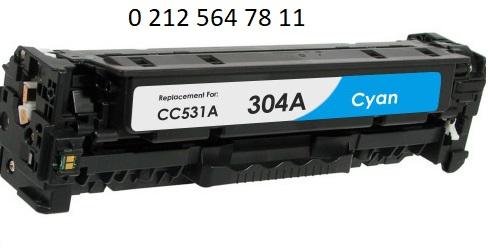 Hp cc531a 304a Mavi Toner Dolumu